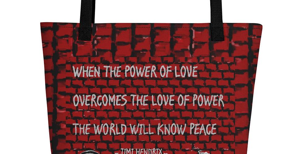 """Hendrix Quote"" Tote Bag"