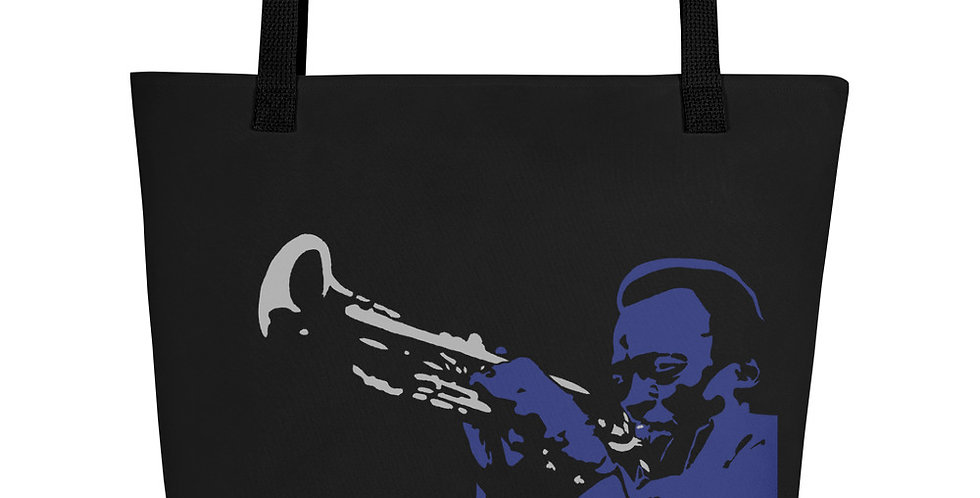 """Miles (Blues)"" Tote Bag"