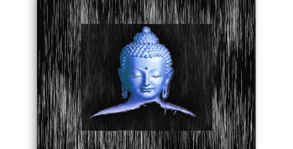 """Silver Buddha"" Canvas Print"