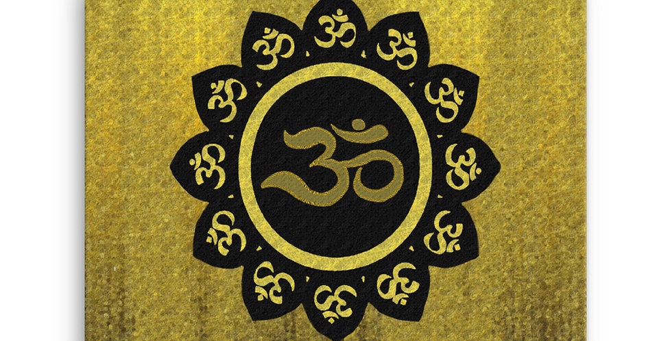 """Lotus Om (Gilded)"" Canvas Print"