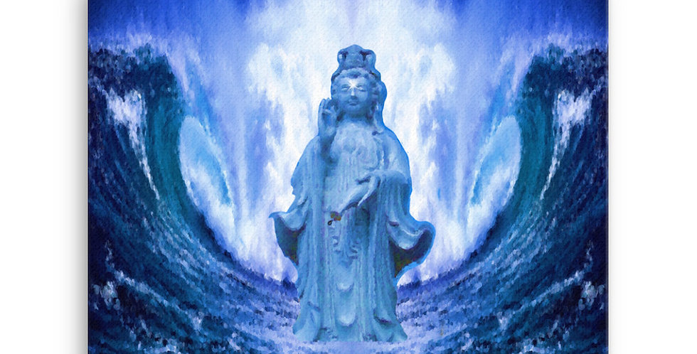 """""""Buddha Wave III"""" Canvas Print"""