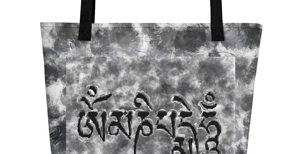 """Om Mani (Storm)"" Tote Bag"