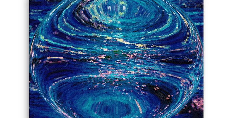 """Into The Blue IX"" Canvas Print"