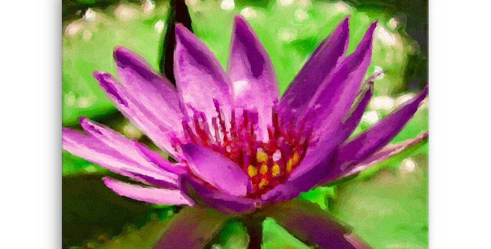 """Lotus XIV"" Canvas Print"