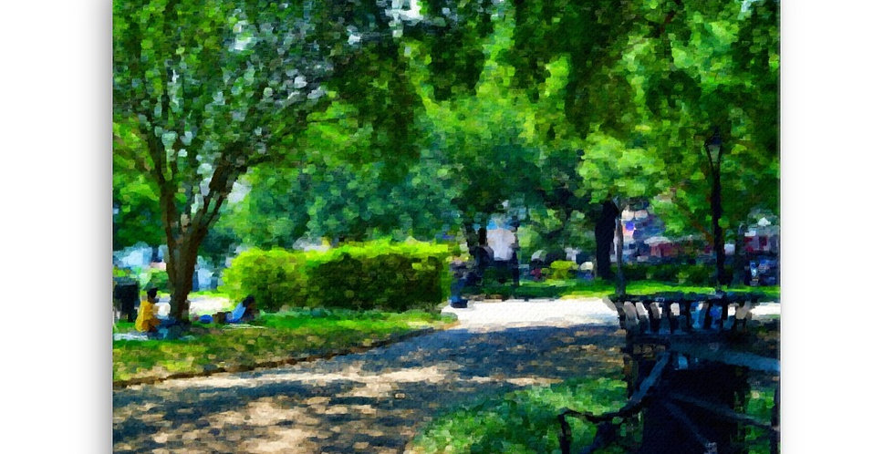 """""""Afternoon In The Park"""" Canvas Print"""