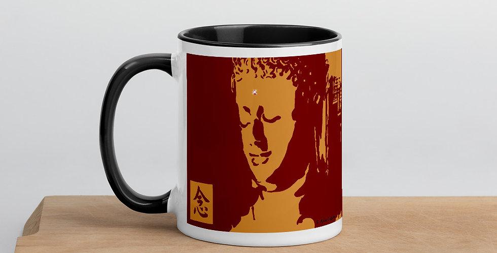 """""""Mindfulness (Crimson & Gold)"""" Coffee Mug"""