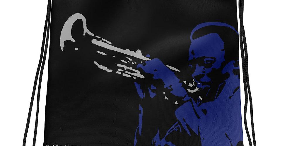 """Miles (Blues)"" Drawstring Bag"