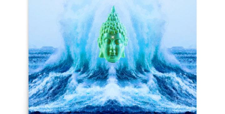 """""""Buddha Wave II"""" Art Print"""