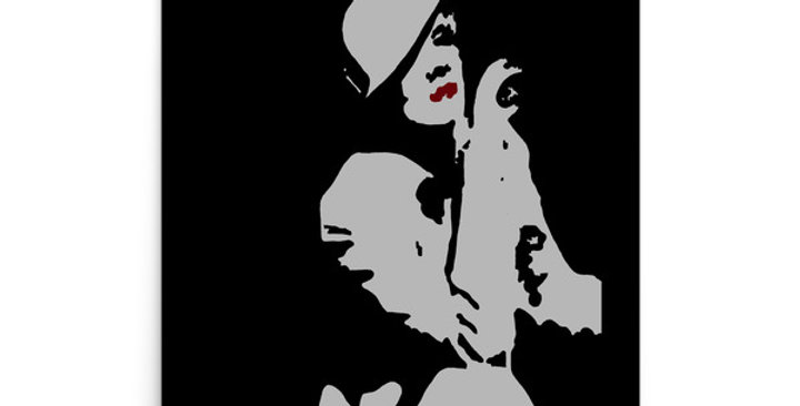 """Marlene III (Silver Screen)"" Art Print"