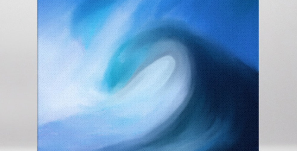 """Into The Blue XV"" Canvas Print"