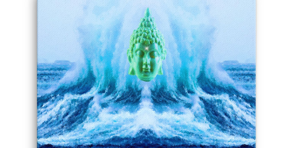 """Buddha Wave II"" Canvas Print"