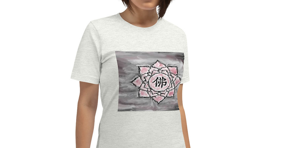 """Buddha Lotus (Crimson Storm)"" Unisex T-Shirt"