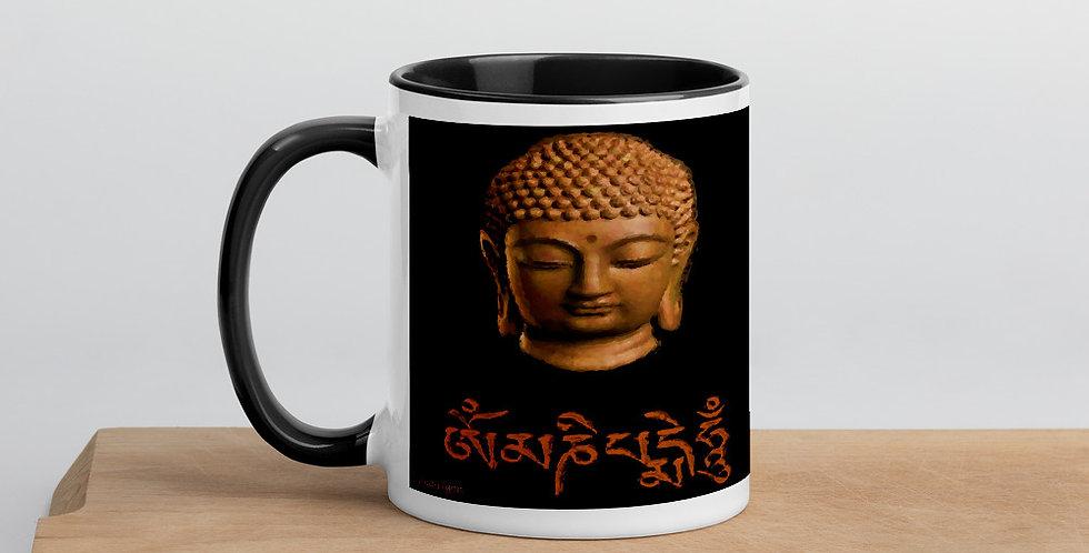 """""""Wood Buddha (Om Mani)"""" Coffee Mug"""