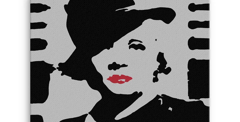 """""""Marlene II (Silver Screen)"""" Canvas Print"""