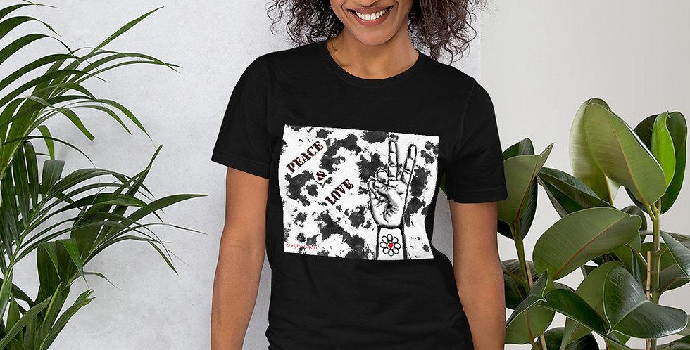 """""""Peace & Love (Graffiti)"""" Unisex T-Shirt"""