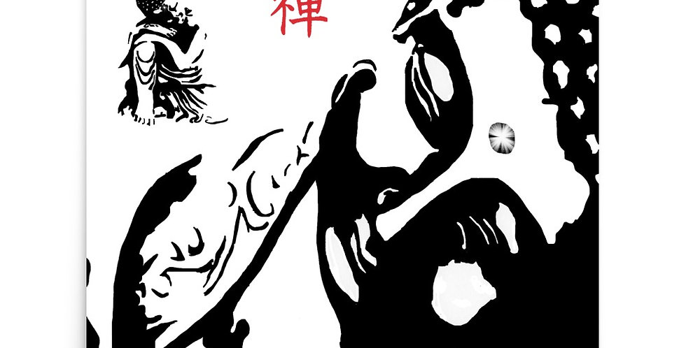 """Zen Buddhas"" Art Print"