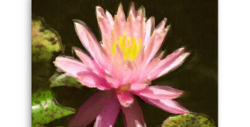 """""""Lotus V"""" Canvas Print"""