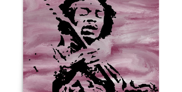 """Jimi (Purple Haze)"" Art Print"