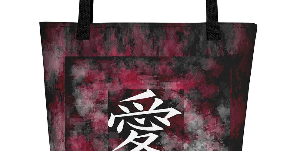 """Love (Splash Graffiti)"" Tote Bag"
