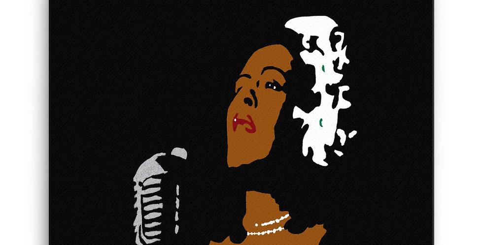 """Lady II (Jazzed)"" Canvas Print"