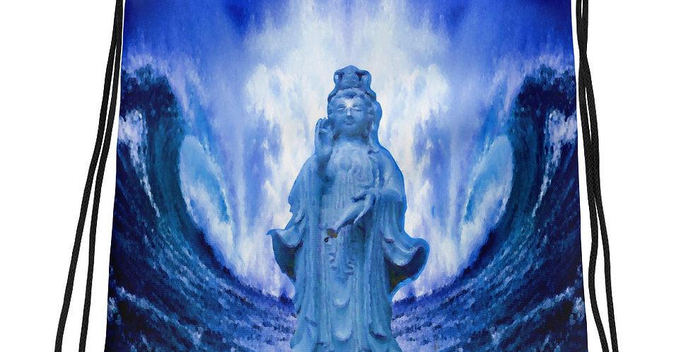 """Buddha Wave III"" Drawstring Bag"