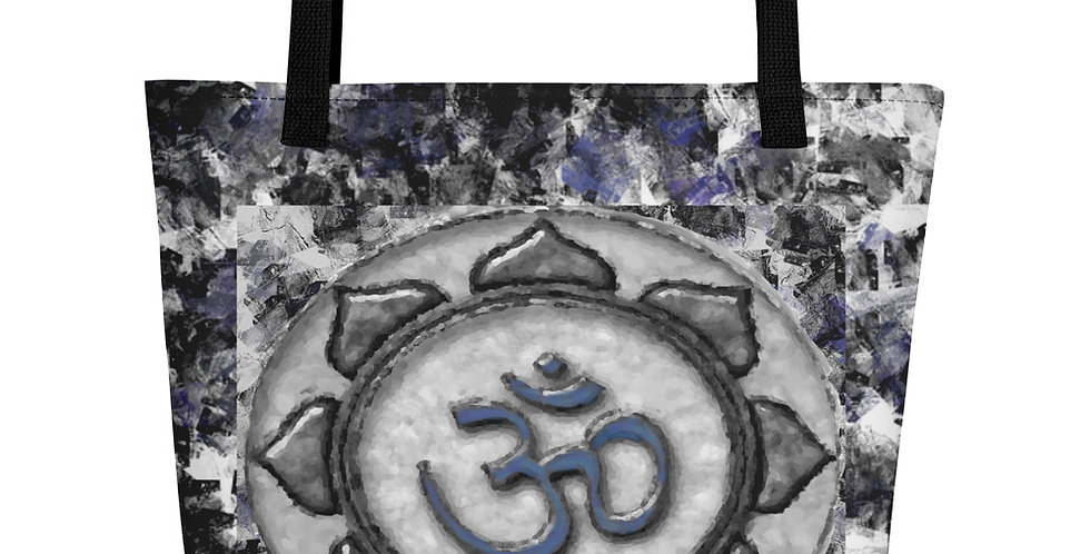 """Om (Blue Marble)"" Tote Bag"