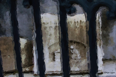 Etched Tombstone 2 - Watercolor Sketch
