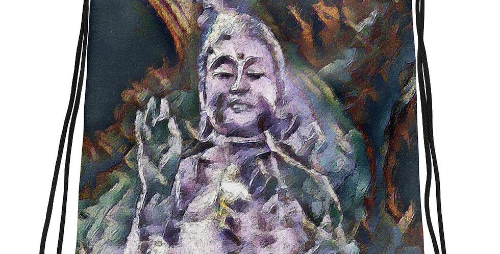 """Buddha (Pieces)"" Drawstring Bag"