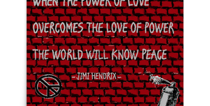 """Hendrix Quote"" Art Print"