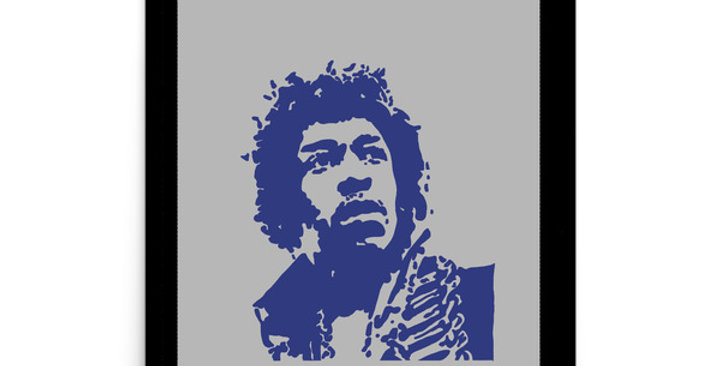"""Hendrix II (Shades Of Blue)"" Art Print"