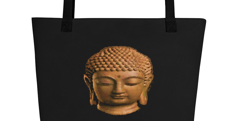 """Wood Buddha (Om Mani)"" Tote Bag"