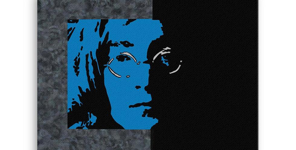 """""""Lennon II (Midnight)"""" Canvas Print"""