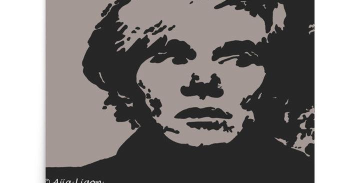 """Warhol (Shades Of Grey)"" Art Print"
