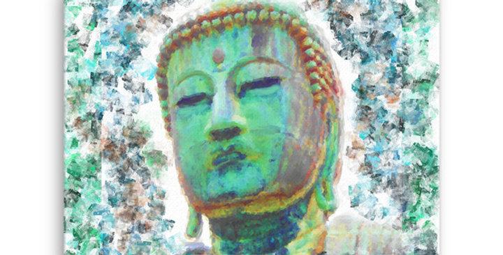 """Buddha (Weathered)"" Canvas Print"