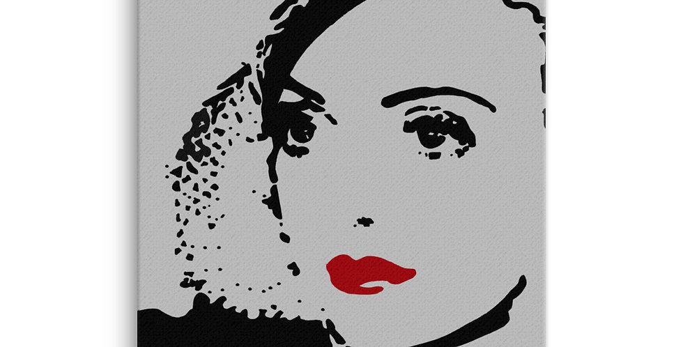"""Bette (Silver Screen)"" Canvas Print"