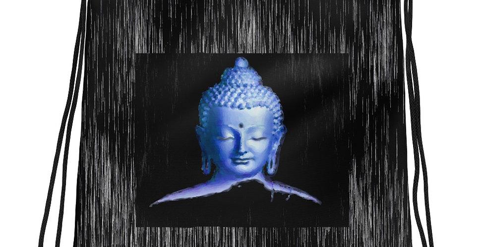 """Silver Buddha"" Drawstring Bag"