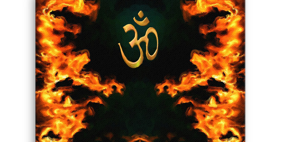 """Fire Dragon Om"" Canvas Print"