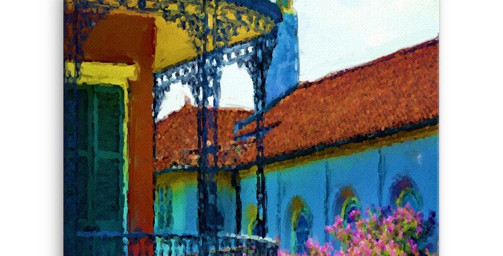 """Terrace"" Canvas Print"