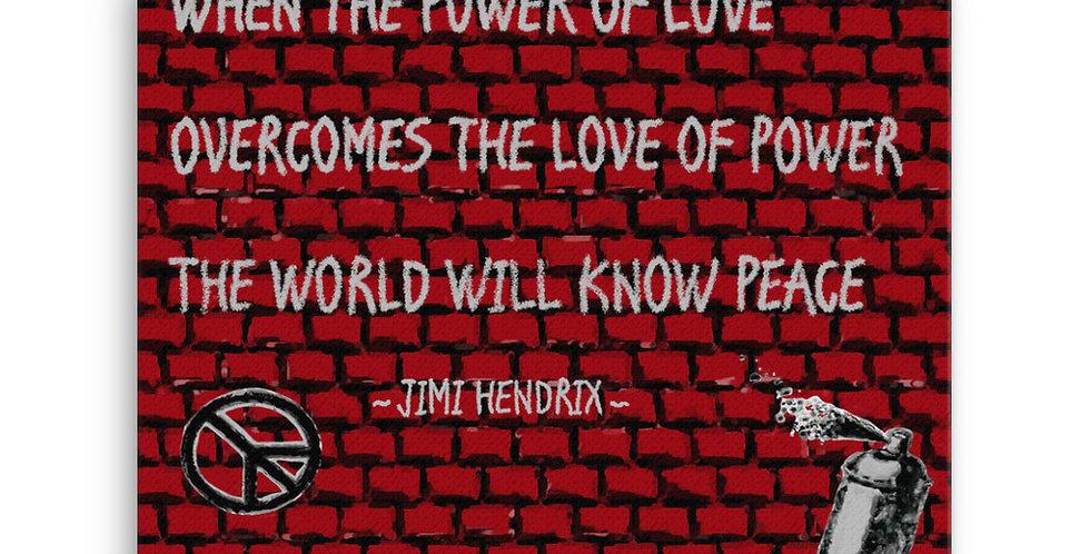 """""""Hendrix Quote"""" Canvas Print"""