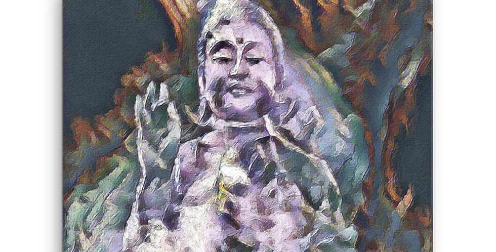 """Buddha (Pieces)"" Canvas Print"
