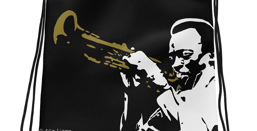"""""""Miles (Jazzed)"""" Drawstring Bag"""