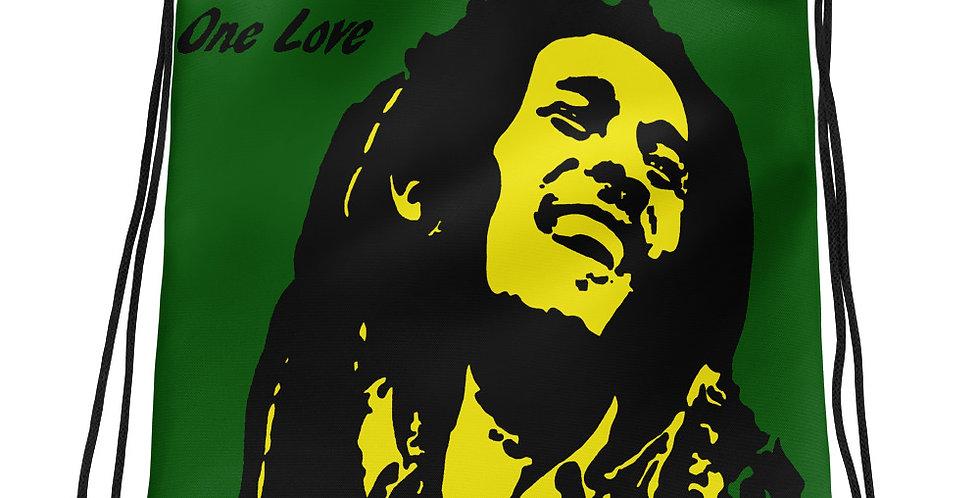 """One Love (Jamaica)"" Drawstring Bag"