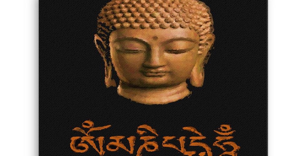 """""""Wood Buddha (Om Mani)"""" Canvas Print"""