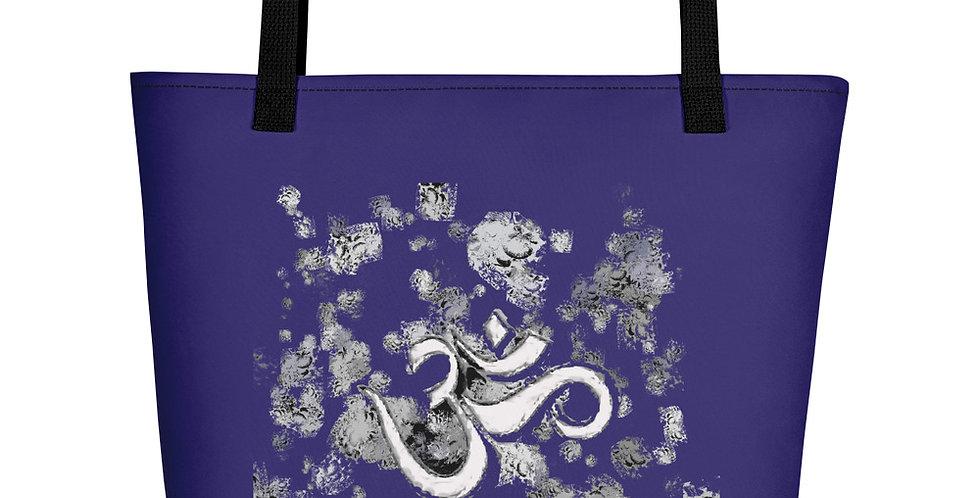 """""""Om (Blue Graffiti)"""" Tote Bag"""