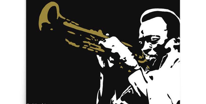 """Miles (Jazzed)"" Art Print"