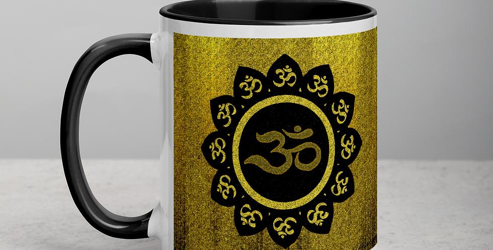 """Lotus Om (Gilded)"" Coffee Mug"