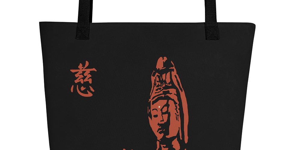 """""""Quan Yin II (Terracotta)"""" Tote Bag"""