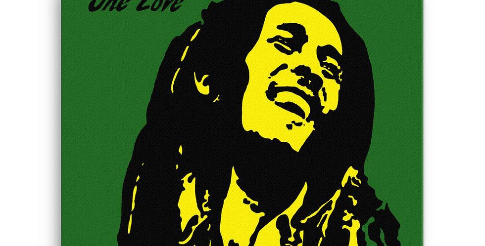 """One Love (Jamaica)"" Canvas Print"
