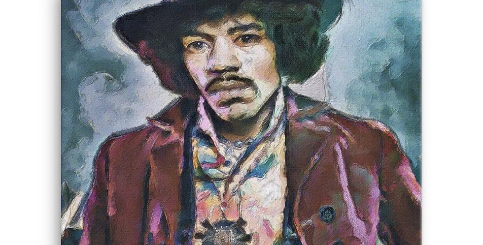 """Jimi (Vivid)"" Canvas Print"