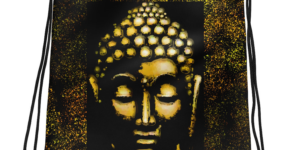 """""""Gold Buddha"""" Drawstring Bag"""